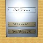 Porta targhe alluminio
